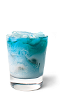 The Blue Frost drink recipe is a blue colored cocktail made from UV Blue raspberry vodka, raspberry sherbet and lemon-lime soda, and served over ice in a rocks glass.