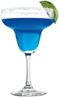 The Blue Margarita is an exotic variation of the classic Margarita drink. A blue cocktail made from Rose's blue curacao cordial, Rose's lime cordial, Rose's triple sec cordial and tequila, and served in a salt-rimmed margarita glass.