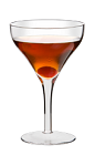 The Bourbon Manhattan is a Kentucky variation of the classic Manhattan cocktail. Made from Wild Turkey bourbon, sweet vermouth and bitters, and served in a chilled cocktail glass.
