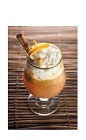 The Brazilian Dreamin drink recipe is a warm drink made from Boca Loca cachaca, cinnamon, orange, brown sugar, nutmeg, warm water and whipped cream, and served in a warm glass. Recipe serves 4.