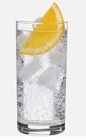 The Burnett's Orange Fizz cocktail is a clear colored drink recipe made from Burnett's orange vodka, vanilla vodka, club soda and orange, and served over ice in a highball glass.