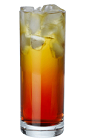 The Carillo Booster drink recipe is made from Carillo mild bitter liqueur and Red Bull, and served over ice in a highball glass.