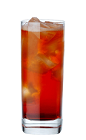 The Carillo Summer Man is a red colored drink recipe made from Carillo mild bitter liqueur and tonic water, and served over ice in a highball glass.