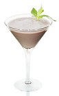 The Choco Mint is a sweet dessert drink made from vodka, Mozart chocolate cream and creme de mente, and served in a chilled cocktail glass.