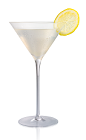 The Citrus Lemon Drop cocktail is made from Stoli Citros vodka, lemon juice and agave nectar, and served in a chilled cocktail glass.