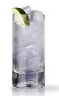 The Classic Gin and Tonic is a clear colored drink made from Martin Miller's gin, tonic water and lime, and served over ice in a highball glass.