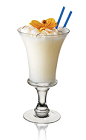 The Coconut Colada is a refreshing tropical cocktail made from Admiral Nelson's coconut rum, milk and pineapple juice, and served in a pousse café or other specialized glass.
