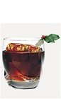 The Candy Cola drink recipe is made from Burnett's candy cane vodka and cola, and served over ice in a rocks glass.