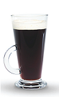 The Cranberry Coffee is a black colored drink made from Finlandia cranberry vodka, hot coffee, sugar and whipped cream, and served in a coffee or hot toddy glass.