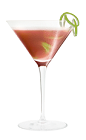 The Crantini is a red colored variation of the classic martini cocktail, made from Southern Comfort, triple sec, orange juice and lime juice, and served in a chilled cocktail glass.