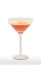 The Cristal Cranberry Sour cocktail recipe is made from Don Q white rum, Grand Marnier orange liqueur, maple syrup, lime juice, egg white, cranberry juice and bitters, and served in a chilled cocktail glass.