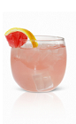 The Effen Summer Punch is a pink colored perfect for any summer or pool party. Made from Effen vodka, watermelon liqueur, lemon juice and simple syrup, and served over ice in a rocks glass.