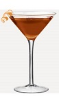 The Flying Chocolate-Covered Pear Martini cocktail recipe is made from Burnett's vodka, chocolate liqueur, pear brandy and triple sec, and served in a chilled cocktail glass.