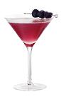 The French Martini is made from Chambord raspberry liqueur, Chambord flavored vodka and pineapple juice, and served in a chilled cocktail glass.