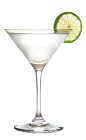 The Frozen Daiquiri is a famous frozen cocktail recipe made from white rum, lime juice and sugar, and served blended with ice in a chilled cocktail glass garnished with a lime slice.