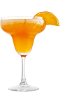 The Frozen Orange Margarita is the perfect drink for Cinco de Mayo or a relaxing day at the beach. An orange cocktail made from Rose's Apricot cordial, Rose's Lime cordial, Rose's Triple Sec cordial and tequila, and served in a chilled margarita glass.