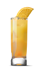 The Fuzzier Navel is an orange colored drink recipe made from UV Peach vodka and orange juice, and served over ice in a highball glass.