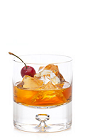 The Gran Old Fashioned is an orange colored drink recipe made in the traditional ways. Made from Gran Gala Triple Orange liqueur, Eagle Rare bourbon and cherry bitters, and served over ice in a rocks glass.