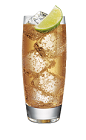The Green Giraffe is made from Smirnoff lime vodka, lime juice, sour mix and ginger ale, and served over ice in a highball glass.