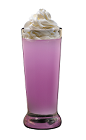 The Harmonie Cupcake Shot is a purple shot made form Hpnotiq Harmonie liqueur and whipped cream, and served in a chilled shot glass.
