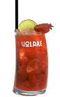 Live on the wild side tonight. The In The Jungle drink recipe is a red colored cocktail made from Volare Forest Fruits berry liqueur, vodka, strawberries, raspberries, lime, simple syrup and Sprite, and served over ice in a highball glass garnished with fresh fruit.