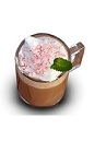 The Irish Peppermint drink is made from Bailey's Irish cream, hot chocolate, whipped cream and candy cane, and served in a coffee mug.