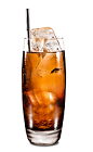 The Kahlua Ginger Ale drink is made from Kahlua coffee liqueur and ginger ale, and served over ice in a highball glass.