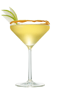 The Kissed Caramel Appletini is an orange colored cocktail made from Smirnoff Kissed Caramel vodka, apple juice, lemon juice and simple syrup, and served in a caramel rimmed cocktail glass.