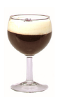 The Lakka Café cocktail recipe is made from Chymos Lakka (cloudberry liqueur), coffee and light cream, and served in a chilled wine glass topped with a few coffee beans.