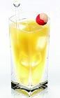 The Lychee Disaronno is an exotic drink made from Disaronno and lychee juice, and served over ice in a highball glass.