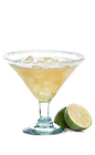 The Manana Margarita is proudly served the day before Cinco de Mayo (commonly called May 4th in most countries that use words). Made from Gran Gala Triple Orange liqueur, Corazon silver tequila, lime juice and agave nectar, and served in a salt-rimmed cocktail glass.