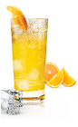 The Mangotastic is a tropical orange drink made from Sourz Mango, lime, lemonade and orange juice, and served over ice in a highball glass. Sourz fans recently voted for the next Sourz flavor, and Sourz Mango came out on top! Enjoy the rest of the summer sipping on a cold fruit-inspired tropical drink.