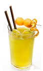 The Molidori is a play on the names 'Molinari' and 'Midori', the key ingredients of this light and refreshing orange drink. Made form Molinari sambuca, Midori melon liqueur and freshly squeezed orange juice, and served over ice in a highball glass.