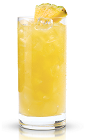 The New Amsterdam Coco Breeze is a yellow colored tropical drink made from New Amsterdam coconut vodka and pineapple juice, and served over ice in a highball glass.