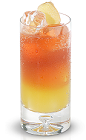 The New Amsterdam Dragon is a fruity orange colored drink made from New Amsterdam Gin, mango juice, sour mix, tonic water, ginger and grenadine, and served over ice in a highball glass.