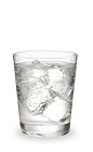 The Peachtree and Tonic is a clear drink made from peach schnapps and tonic water, and served over ice in a rocks glass.