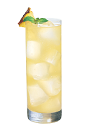 The Pineapple Chi Chi drink is a yellow-colored drink made from Smirnoff pineapple vodka, pineapple juice, lime juice and coconut vodka, and served over ice in a highball glass.