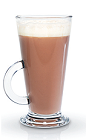 The Raspberry Chocolate is a warm winter drink made from Finlandia raspberry vodka and hot chocolate, and served in a coffee or hot toddy glass.