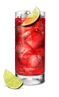The Raspberry Codder is a red colored drink made from Smirnoff raspberry vodka, cranberry juice, lime juice and lemon-lime soda, and served over ice in a highball glass.