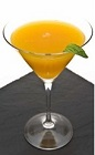 The Sertao Martini is certain to help you relax while on an extended vacation to the tropics of Brazil. An orange colored cocktail made from Leblon cachaca, passion fruit puree, lychee fruit, simple syrup and basil, and served in a chilled cocktail glass.