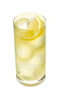 The SoCo Lemonade is a yellow colored drink made from Southern Comfort, lemonade and lemon, and served over ice in a highball glass.