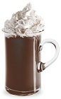 The Spicy Hot Chocolate is a brown drink made from Hot Damn! cinnamon schanpps and hot chocolate, and serve in a warm coffee glass.