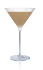 The Stoli Pretzel cocktail is made from Stoli Salted Karamel vodka and Frangelico hazelnut liqueur, and served in a chilled cocktail glass.
