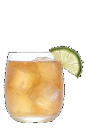 The Surf's Up drink recipe is made from Three Olives Dude citrus vodka, spiced rum and lemon-lime soda, and served over ice in a rocks glass.