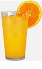 The Tropical Madras is an orange colored drink recipe made from Burnett's cranberry vodka, pineapple juice and orange juice, and served over ice in a highball glass.