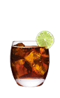 The Vanilla Vodka and Coke drink is made from Smirnoff Vanilla vodka, Coca-Cola and lime, and served over ice in a rocks glass.