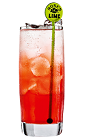 The Vodka Daisy is a colorful fruit cocktail made from vodka, Rose's lemon cordial, grenadine and club soda, and served over ice in a highball glass.