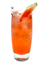The Watermelon and Juice drink is made from Smirnoff Watermelon vodka and cranberry juice, and served in a highball glass.