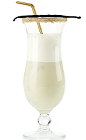 The White Chocolate Frappe is a smooth frozen cocktail perfect for sipping by the pool or watching the summer sun set over the horizon. A cream colored cocktail made from Mozart White chocolate liqueur, vanilla ice cream and milk, and served in a chilled hurricane glass.