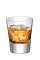 The Cherry on the Rocks is made from Southern Comfort Bold Black Cherry, and served over ice in a rocks glass.